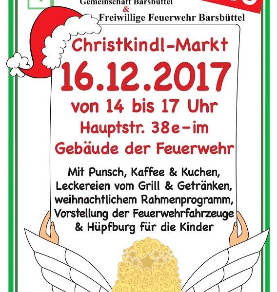 Am 16.12.2017 findet der erste gemeinsame Christkindl- Markt in der Feuerwache Barsbüttel statt